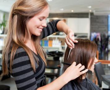 Pour les coiffeurs la restitution des cheveu
